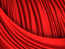 Luxury red satin cloth abstract background Royalty Free Stock Image