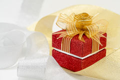 Luxury red sparkle gift box Royalty Free Stock Photo