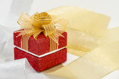 Luxury red sparkle gift box.  Stock Photography