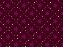 Luxury red star vintage style  seamless pattern. Christmas festive textile vector illustration. Repeatable motif for  wrapping paper, fabric, background Stock Photography