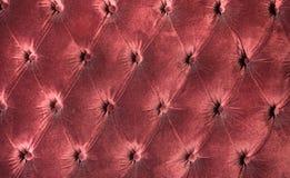 Luxury red velvet cushion close-up background Stock Photos