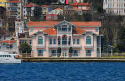 Luxury residences in Istanbul. Luxury waterside residences along Bosporus, Istanbul Stock Images