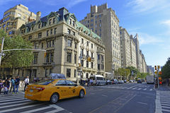 Luxury residential buildings on 5th Avenue, Manhattan. NEW YORK - CIRCA SEPTEMBER 2015. In addition to Museum attractions in the Upper East Side, luxury stock photo