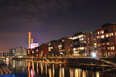Night atmosphere in city of Frankfurt Stock Photography
