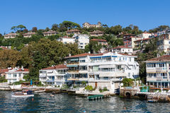 Luxury residentials on Bosphorus, Istambul Royalty Free Stock Image