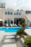 Luxury Resort. Terrace of a luxury hotel with pool Stock Photo