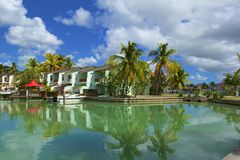 Luxury resort in Antigua, Caribbean Stock Image