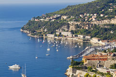 Luxury resort and bay, Nice, France Stock Images