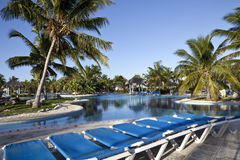 Luxury Resort Hotel Swimming Pool Royalty Free Stock Images