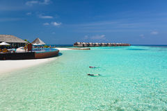 Luxury resort in the Indian Ocean Royalty Free Stock Photo