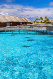 Luxury resort in Maldives Stock Images