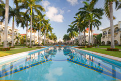 Luxury resort in Mexico. Luxury resort with perfect swimming pool in Mexico Royalty Free Stock Photography