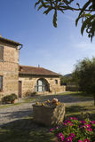 Luxury Resort On Tuscan Hills Royalty Free Stock Photos
