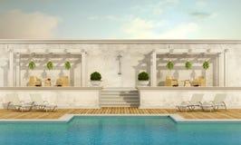 Luxury resort with pool Royalty Free Stock Photo