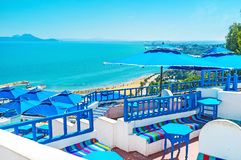 Luxury resort of Sidi Bou Said Stock Photography