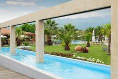 Luxury resort. Summer vacation scene Royalty Free Stock Images