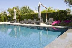 Luxury resort swimming pool Stock Images