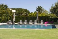 Luxury resort swimming pool Stock Image