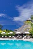 Luxury Resort swimming pool Royalty Free Stock Photos