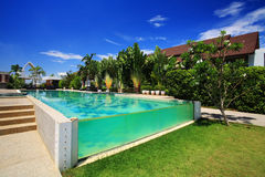Luxury resort swimming pool Royalty Free Stock Image