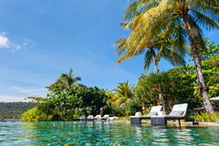 Luxury resort swimming pool Stock Photos