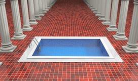 Luxury resort with swimming pool Stock Photos