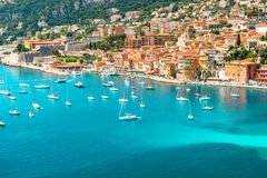 Luxury resort Villefranche, french riviera Stock Photos