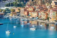 Villefranche sur Mer, Cote d`Azur, French Riviera, France stock images