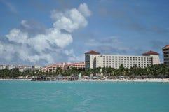 Luxury resorts in Caribbean. Luxury resorts along Aruba coast Stock Images