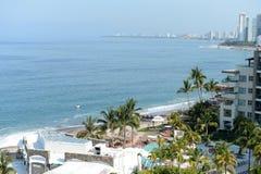 Luxury resorts on coastline Royalty Free Stock Images