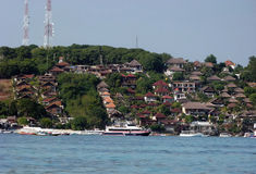Luxury resorts. On the island of Nusa Lembongan in Bali, Indonesia Royalty Free Stock Photos
