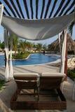 Luxury Resorts Pool Garden Stock Image