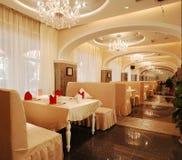 Luxury restaurant. Restaurant interior with luxury architecture stock images