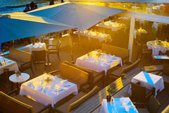 Luxury restaurant in Cannes Stock Image