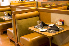 Luxury restaurant with comfortable seats Stock Photo