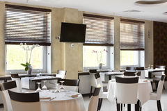 Luxury restaurant in european style Stock Image