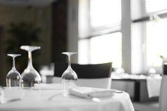 Luxury restaurant in european style Stock Photos