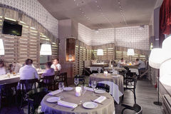Luxury restaurant in european style Royalty Free Stock Images