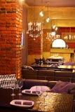 Luxury restaurant in european style Royalty Free Stock Photos