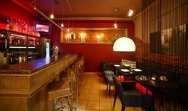 Luxury restaurant in european style Stock Images