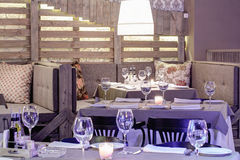 Luxury restaurant in european style Stock Photo