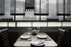 Luxury restaurant in european style Royalty Free Stock Photos