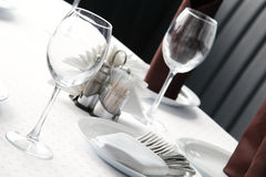 Luxury restaurant in european style Stock Photography