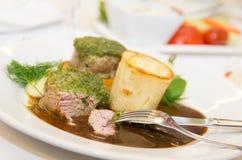 Luxury restaurant food Stock Image