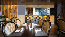 Luxury restaurant interior Stock Images