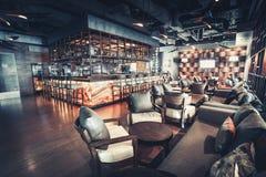 Luxury restaurant interior Stock Photos