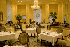 Luxury restaurant interiors. Luxury restaurant with elegant interior designs Stock Photo