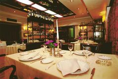 Luxury restaurant luonge Stock Images