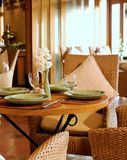 Luxury restaurant setting Stock Image