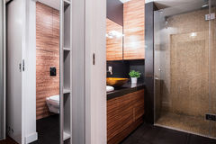 Luxury restroom in elegant apartment Royalty Free Stock Images